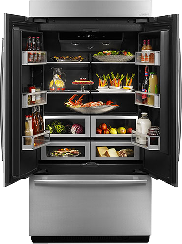Blog jenn air finds a beautiful dark side with the new for Obsidian interior refrigerator