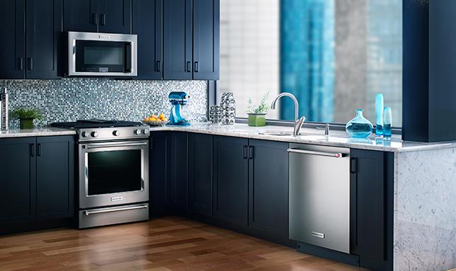 A KitchenAid Dishwasher Works Hard