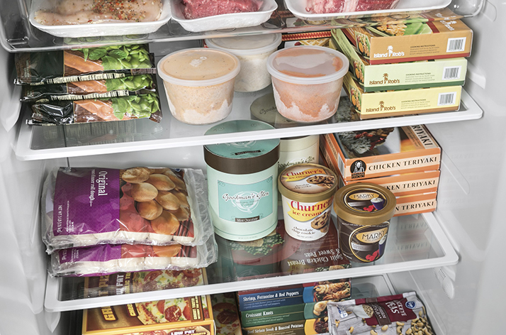 Store Food Right with a GE Upright Freezer