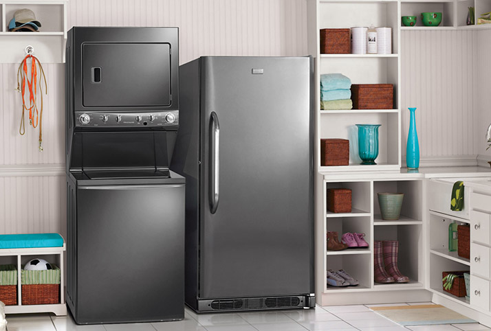 Choose Frigidaire for Stackable Laundry Centers