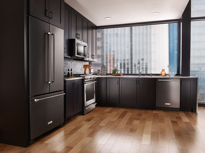 KitchenAid Black Stainless Steel Collection | University Electric on black smeg, black ge, black paula deen, black apple, black hp, black samsung, black whirlpool, black microsoft, black pfaltzgraff, black aga, black gibson, black lg, black tupperware, black estate,