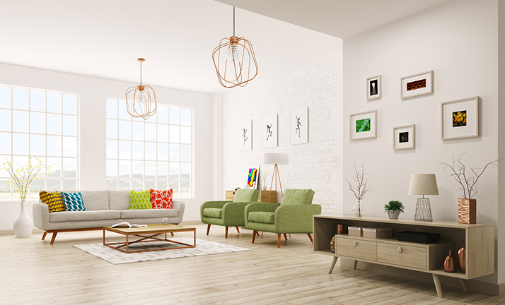 How to Add Pops of Color to White Walls
