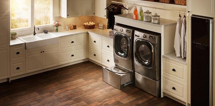 Discreet LG Sidekick Washer Made for Small Loads