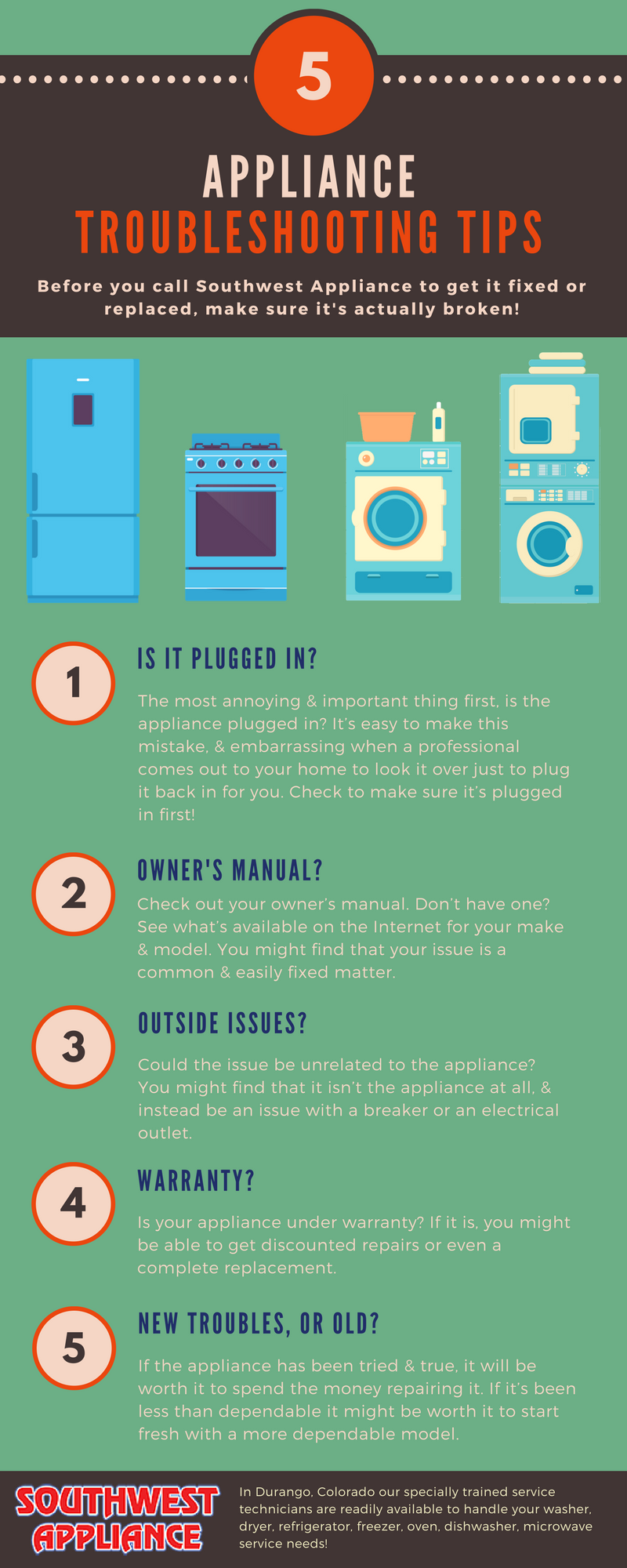 5 Appliance Troubleshooting Tips