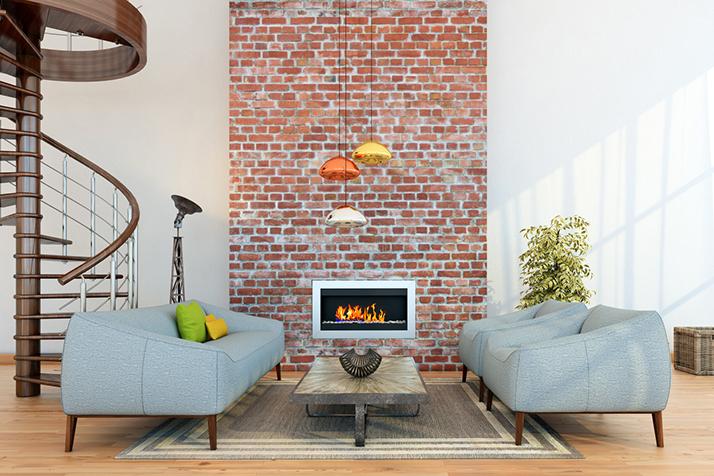 A Few Ways to Update a Brick Fireplace
