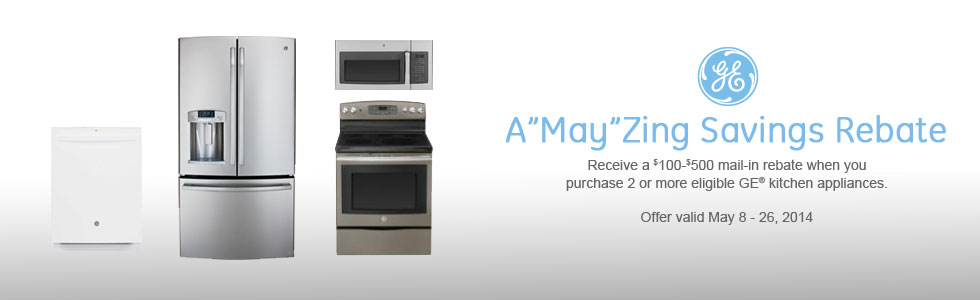 Ge A May Zing Savings Event Promo 05 08 2014 To 05 26 2014 Wahl S Appliance Mattress Outlet Beloit Wi