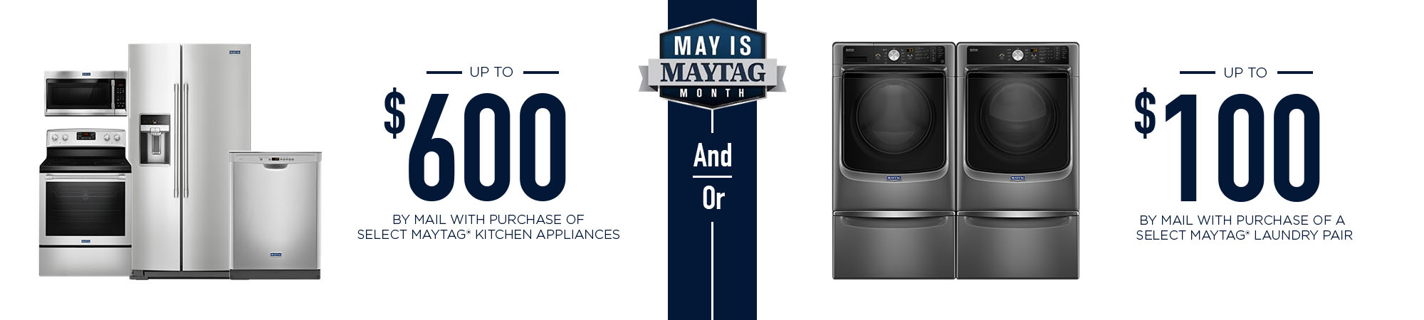 May is Maytag banner