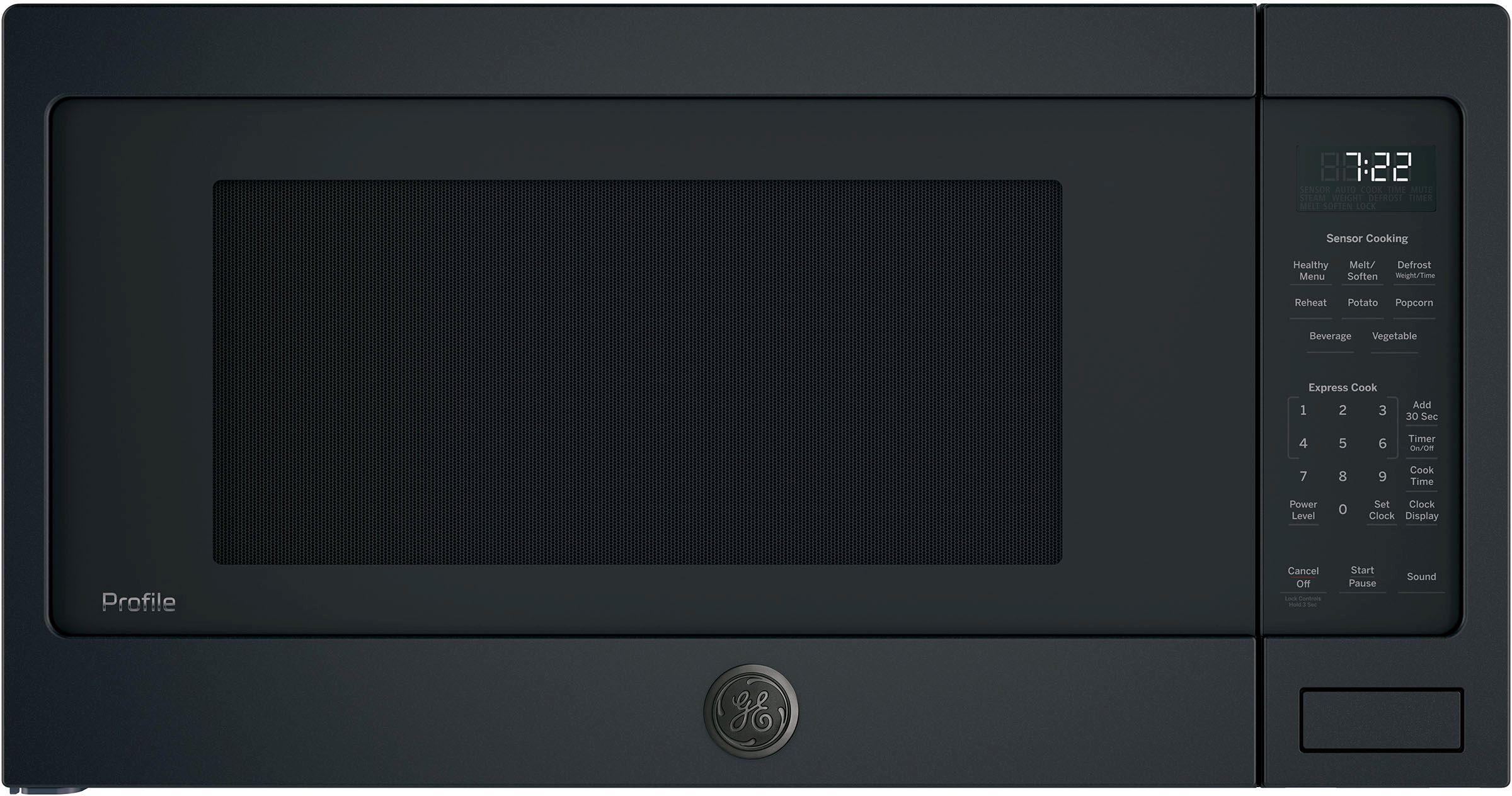 Ge Profile Series Countertop Sensor Microwave Oven Black Slate Pes7227fmds