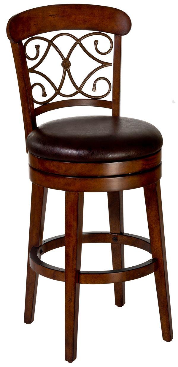 Hillsdale Furniture Bergamo Distressed Medium Brown Cherry