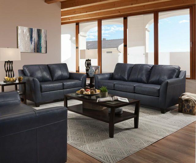 Lane Soft Touch Shale Blue Sofa-2029-03 Shale Blue