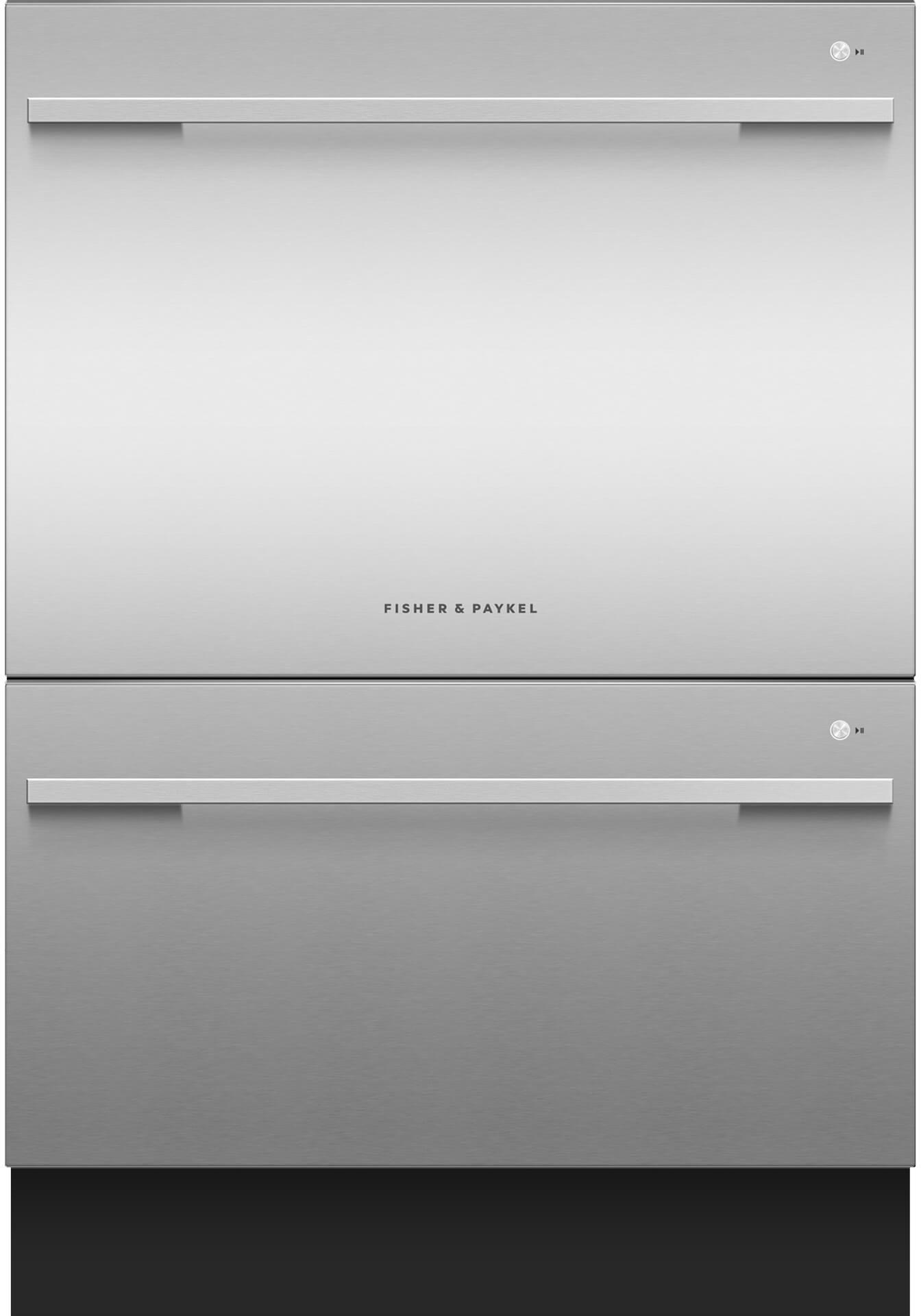 "Fisher Paykel DishDrawer™ 23.56"" Double Dishwasher-EZKleen Stainless  Steel-DD24DDFTX9 ..."