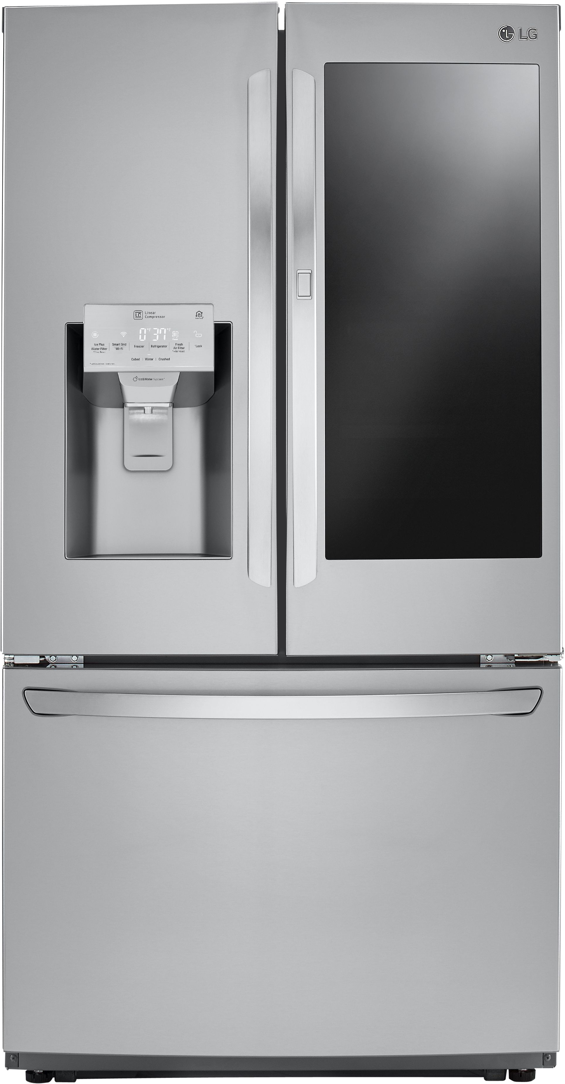 Lg 26 Cu Ft French Door Refrigerator Stainless Steel Lfxs26596s