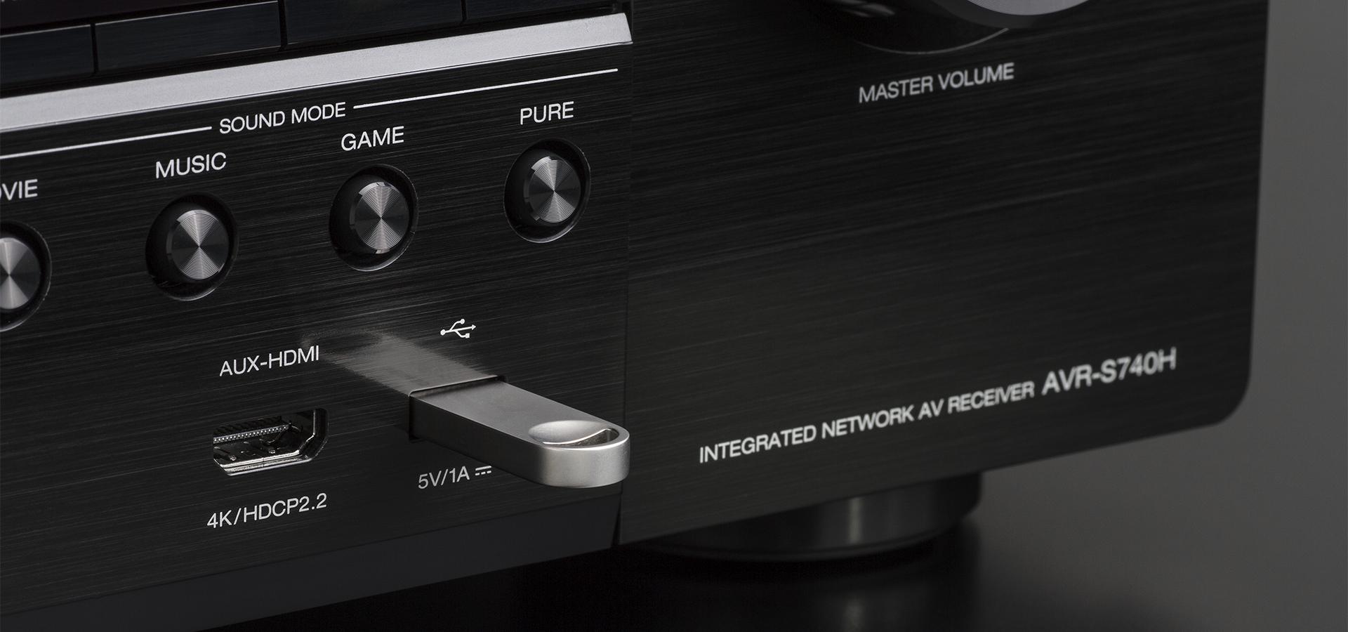 Denon® 7 2 Channel 4K AV Receiver-AVR-S740H | Good Vibes Sound