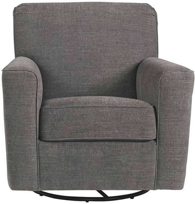 Ashley® Alcona Charcoal Swivel Glider Accent Chair-9831042