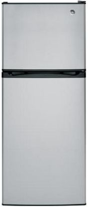 GE® Series 11.6 Cu. Ft. Top Freezer Refrigerator-Stainless ... on