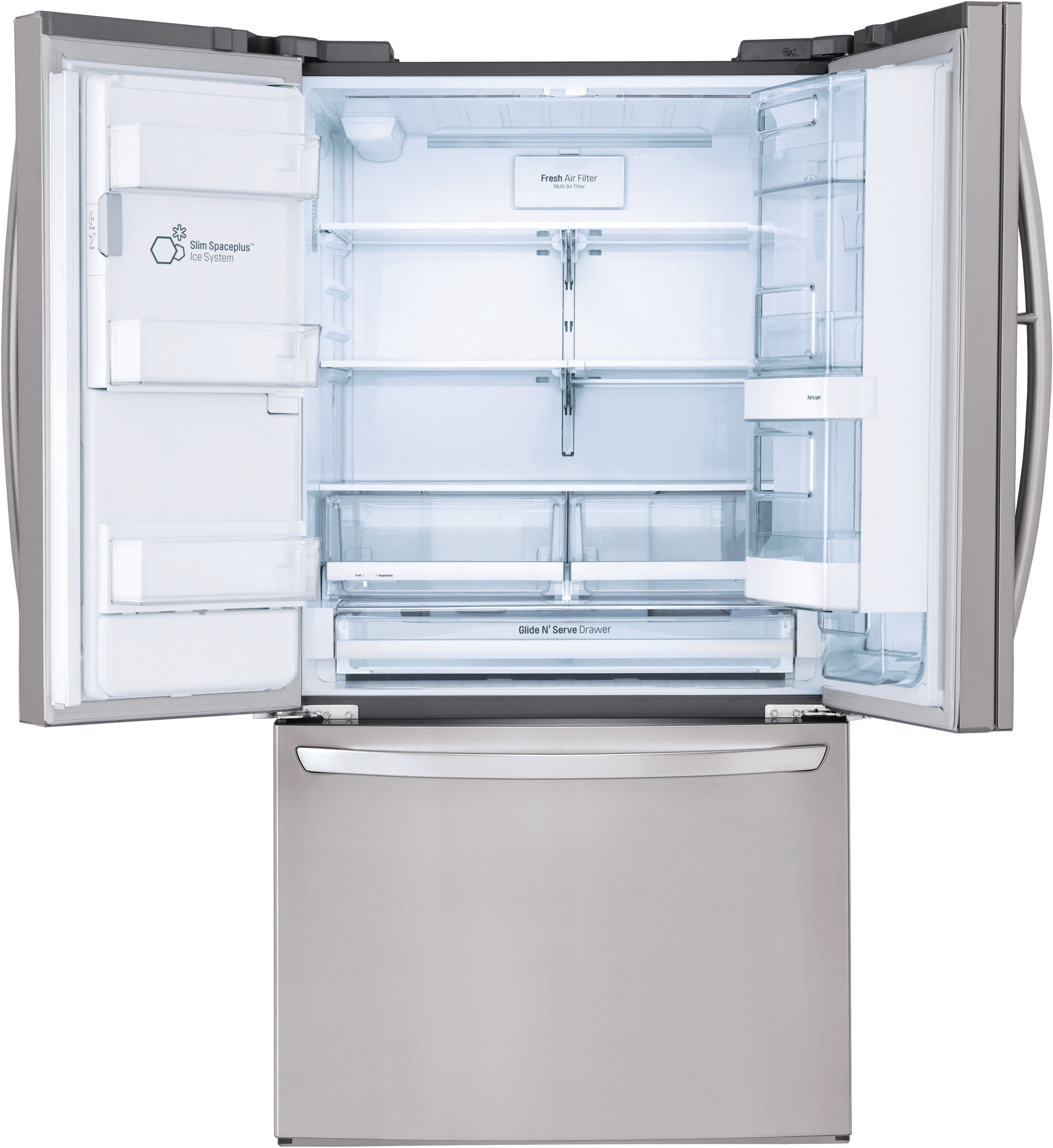 LG 27 7 Cu  Ft  Stainless Steel French Door Refrigerator