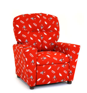 Kidz World Collegiate Living Room Youth Recliners 1300 1AR. Kidz World  Furniture