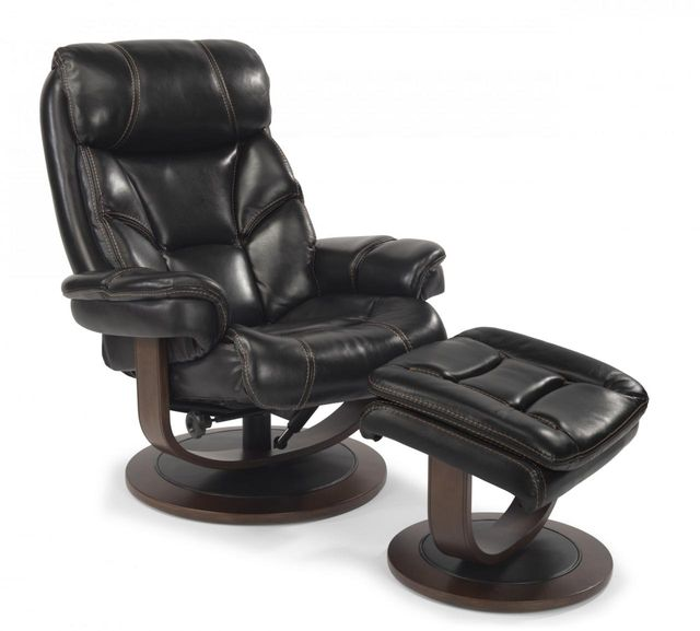 flexsteel® west leather chair and ottoman1453co  colder