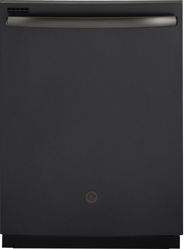 Ge 174 23 75 Quot Built In Dishwasher Black Slate Gdt605pfmds