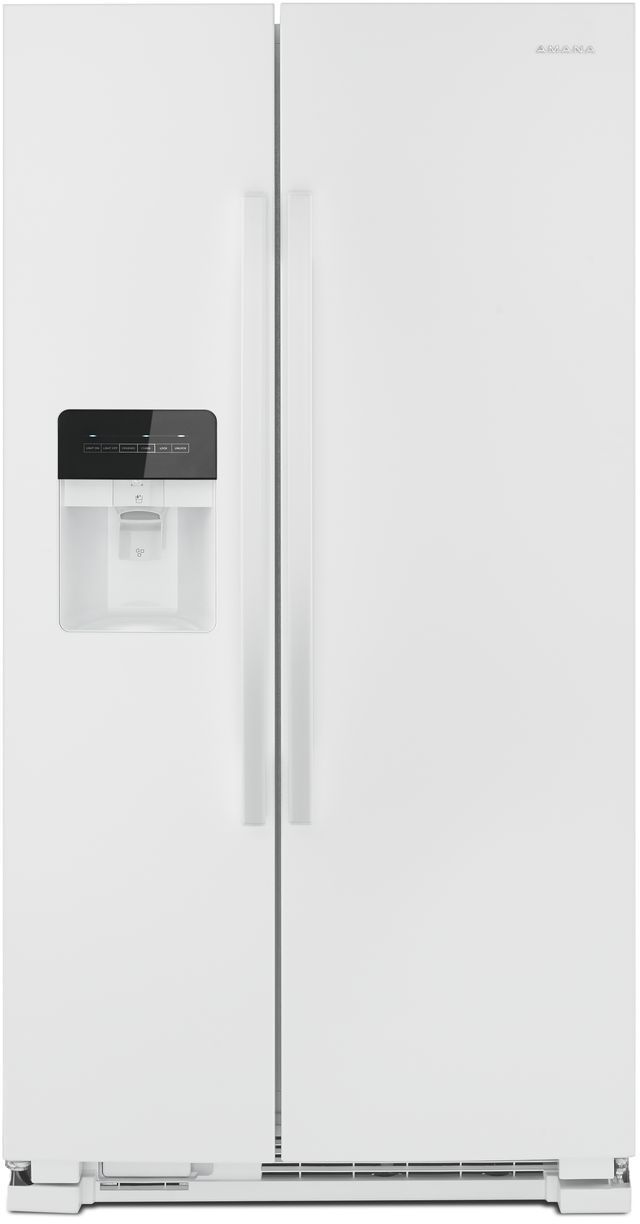 Amana 174 21 41 Cu Ft White Side By Side Refrigerator