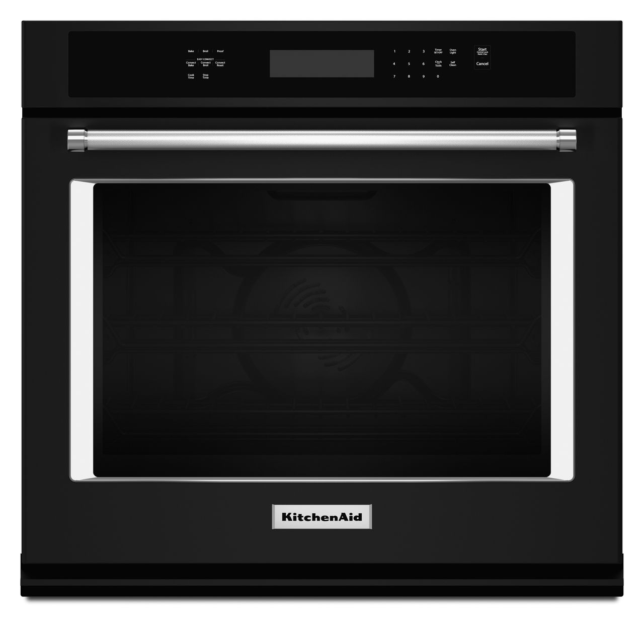 Kitchenaid 27 Built In Electric Single Wall Oven Black Stainless Fan Conversion For Suburban Steel Kose507ebs