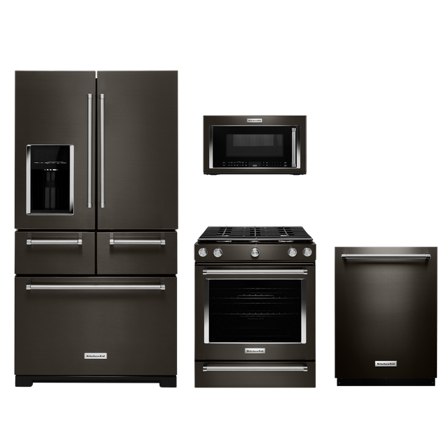 KitchenAid® 4 Piece Kitchen Package-Black Stainless-KIKITKSGG700EBS