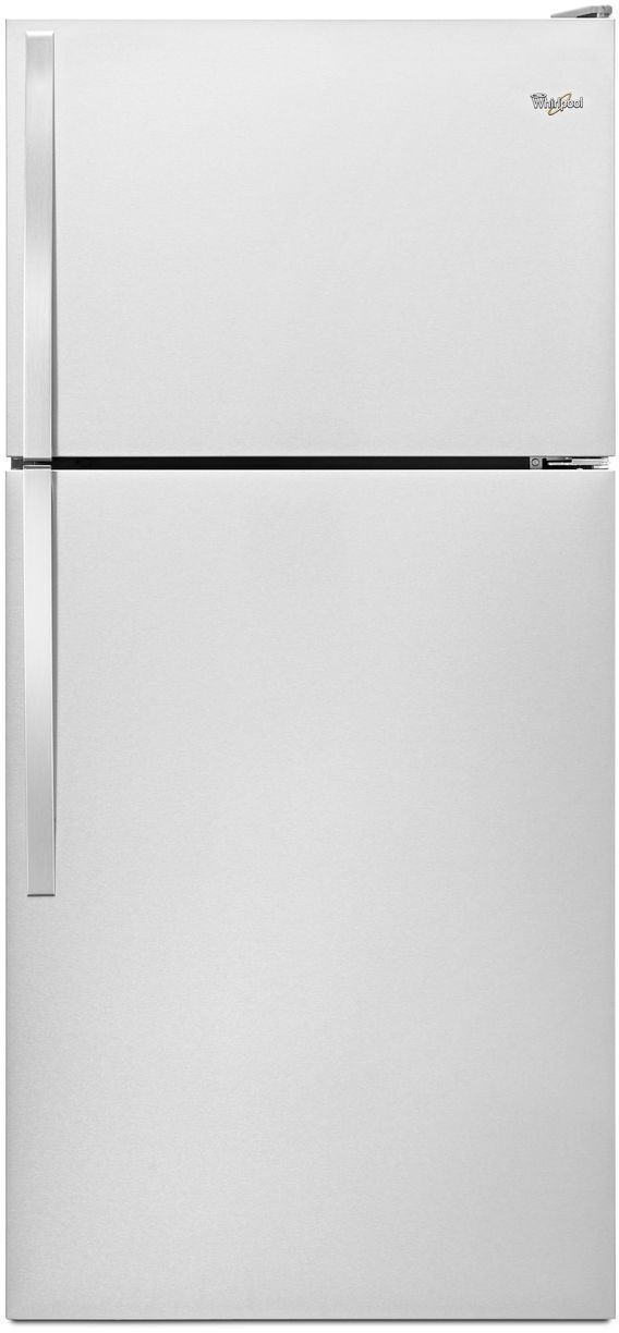 Whirlpool 18 0 Cu Ft Top Freezer Refrigerator Monochromatic Stainless Steel Wrt108fzdm