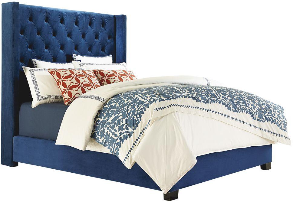 Standard Furniture Westerly Blue Upholstered King Bed 94299 Sandy Super