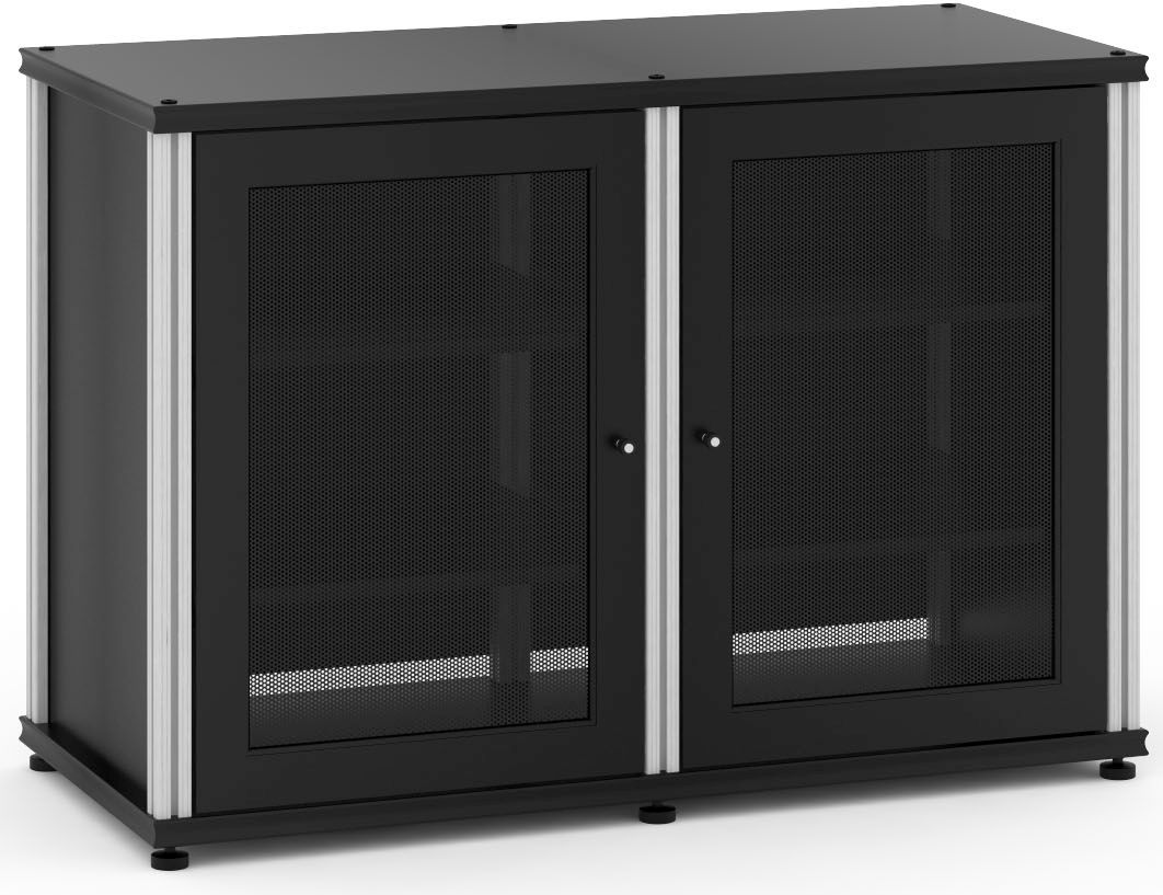 Salamander Designs® Synergy Model 323 AV Cabinet Black/Aluminum SB323B/A