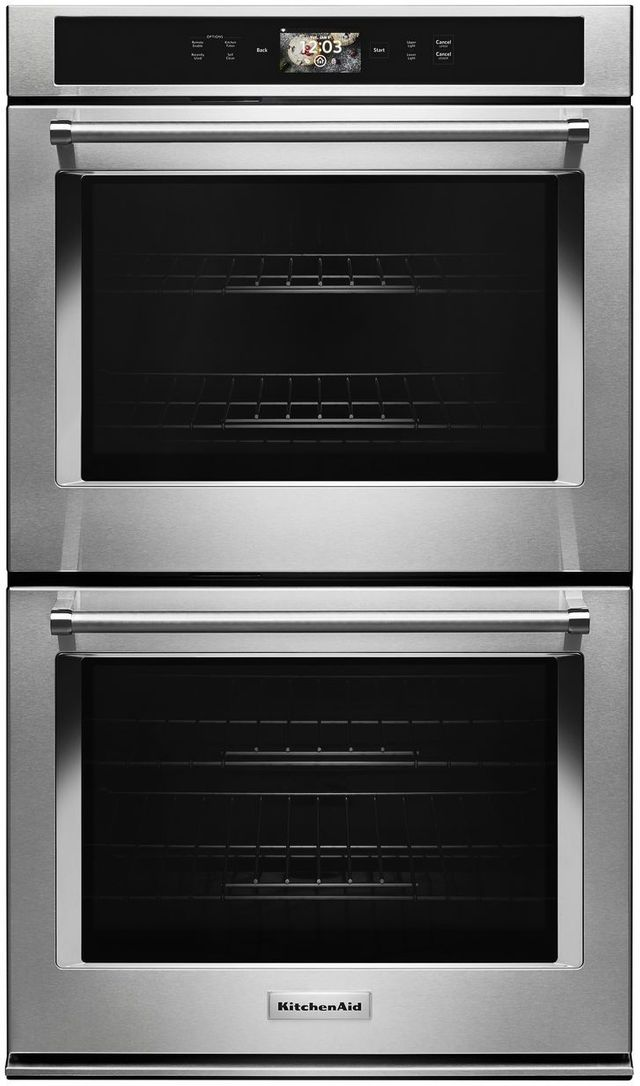Kitchenaid 174 30 Quot Stainless Steel Smart Electric Double Oven