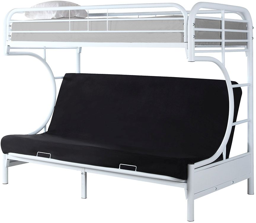 Coaster Atticus Twin Over Futon Bunk Bed 460102w Appliances Hdtvs