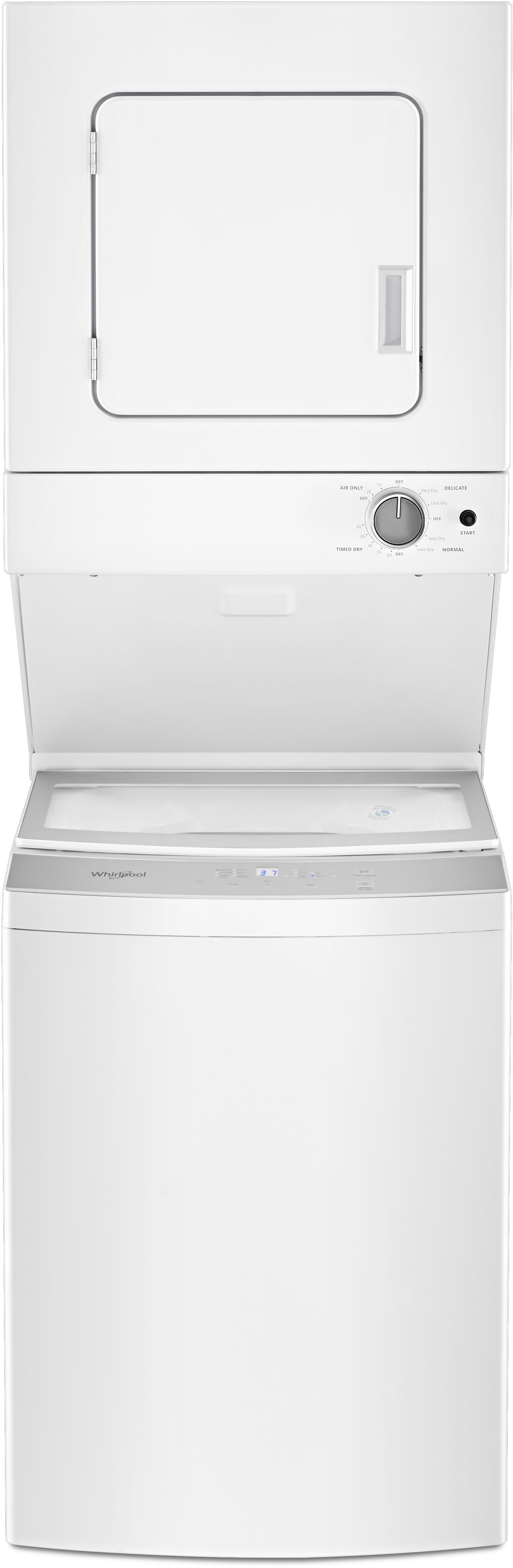 Whirlpool 174 Electric Stacked Laundry White Wet4024hw Home