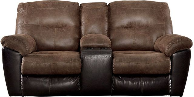 Surprising Ashley Follett Double Reclining Loveseat With Console 6520294 Caraccident5 Cool Chair Designs And Ideas Caraccident5Info