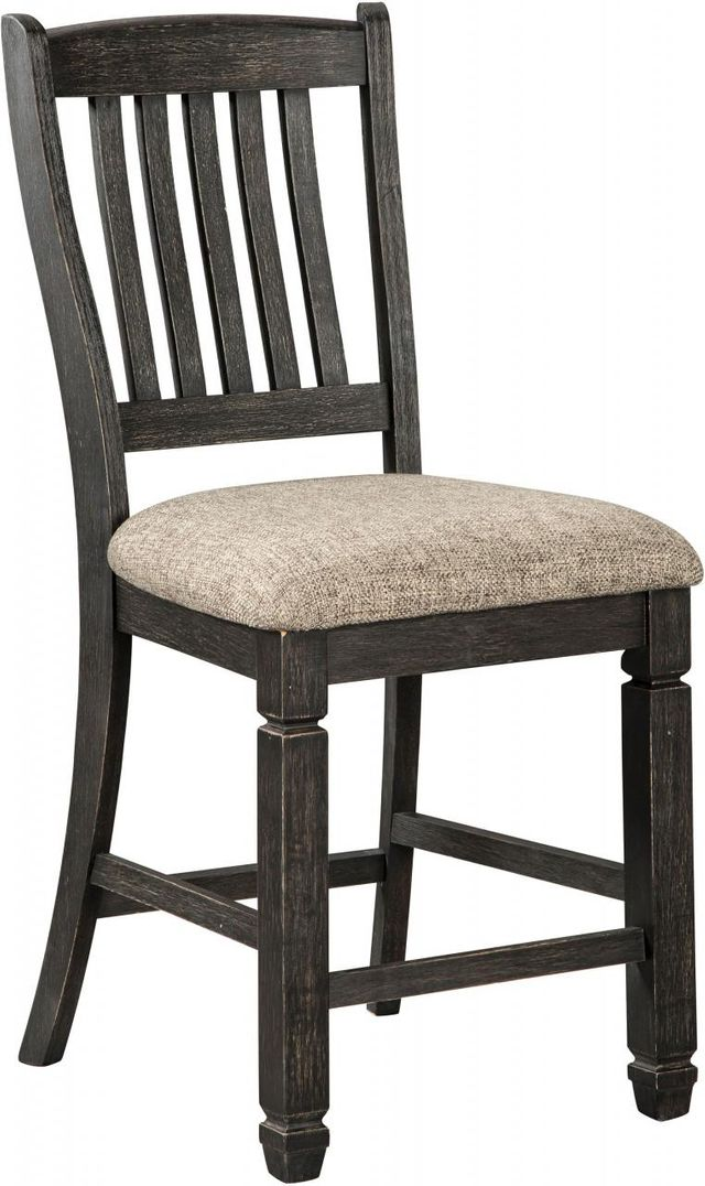 Peachy Signature Design By Ashley Tyler Creek Black Grayish Brown Counter Height Bar Stool D736 124 Cjindustries Chair Design For Home Cjindustriesco