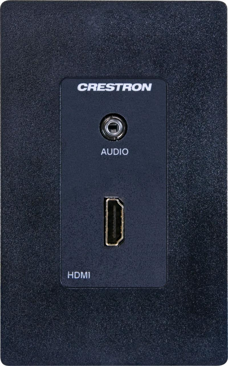 Crestron® Media Presentation Wall Plate-Black-MP-WP150-B