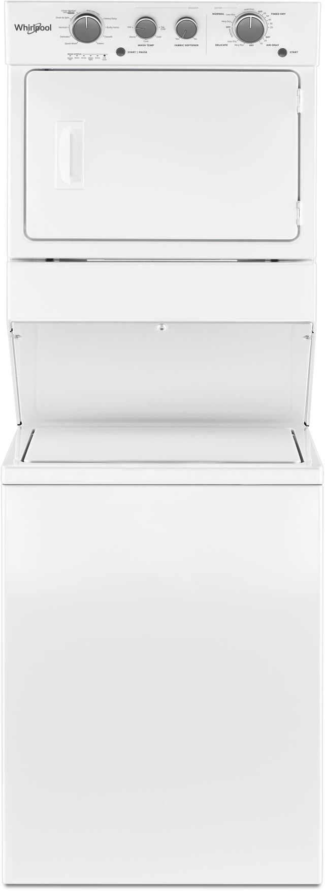 Whirlpool 174 Electric Long Vent Stacked Laundry White
