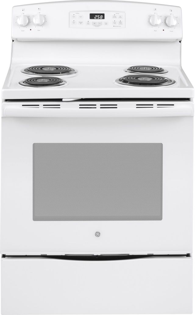 Ge 174 30 Quot Free Standing Electric Range White Jb258dmww
