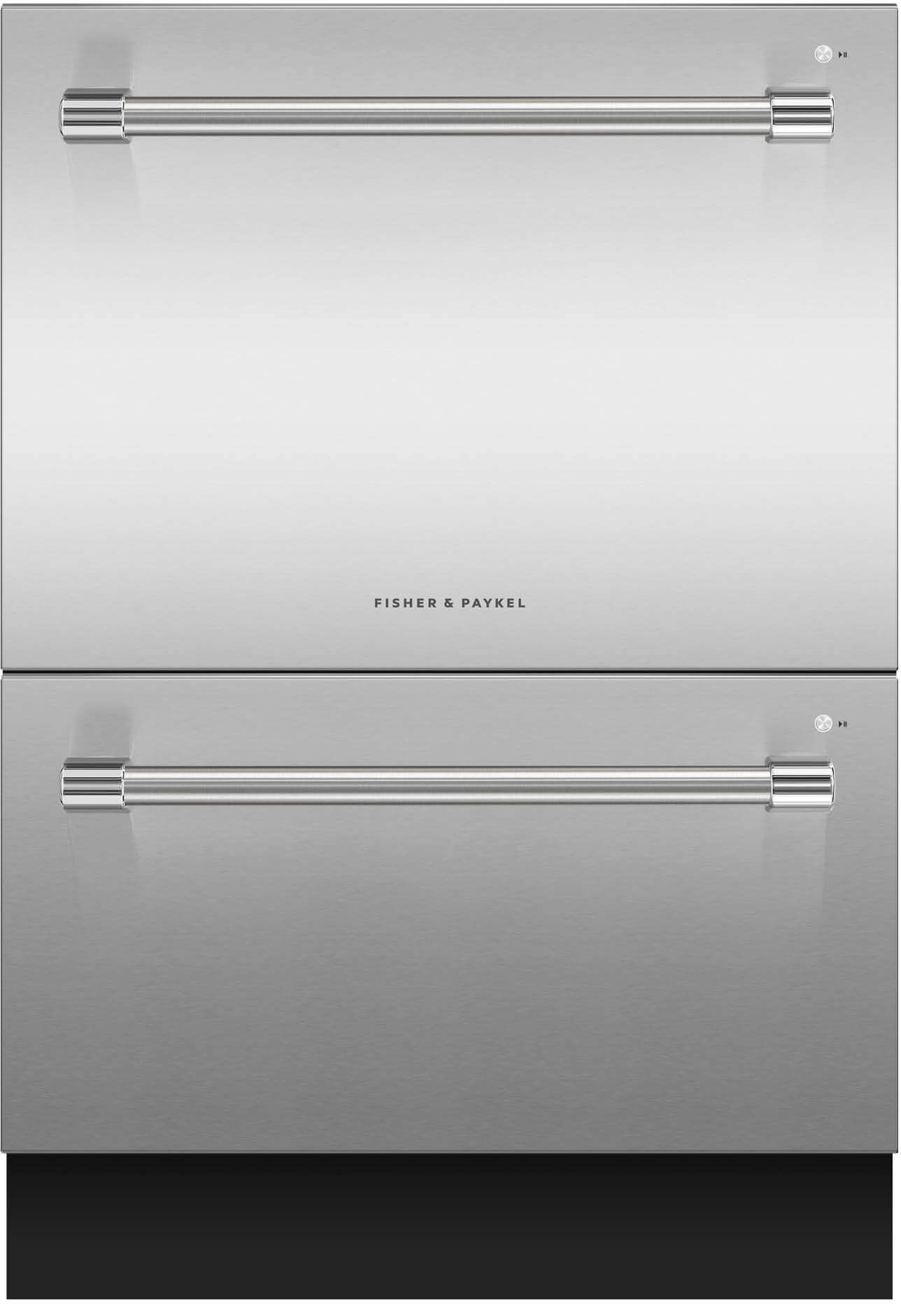"""Fisher Paykel DishDrawer™ 23.56"""" Double Dishwasher-Stainless  Steel-DD24DV2T9 ..."""