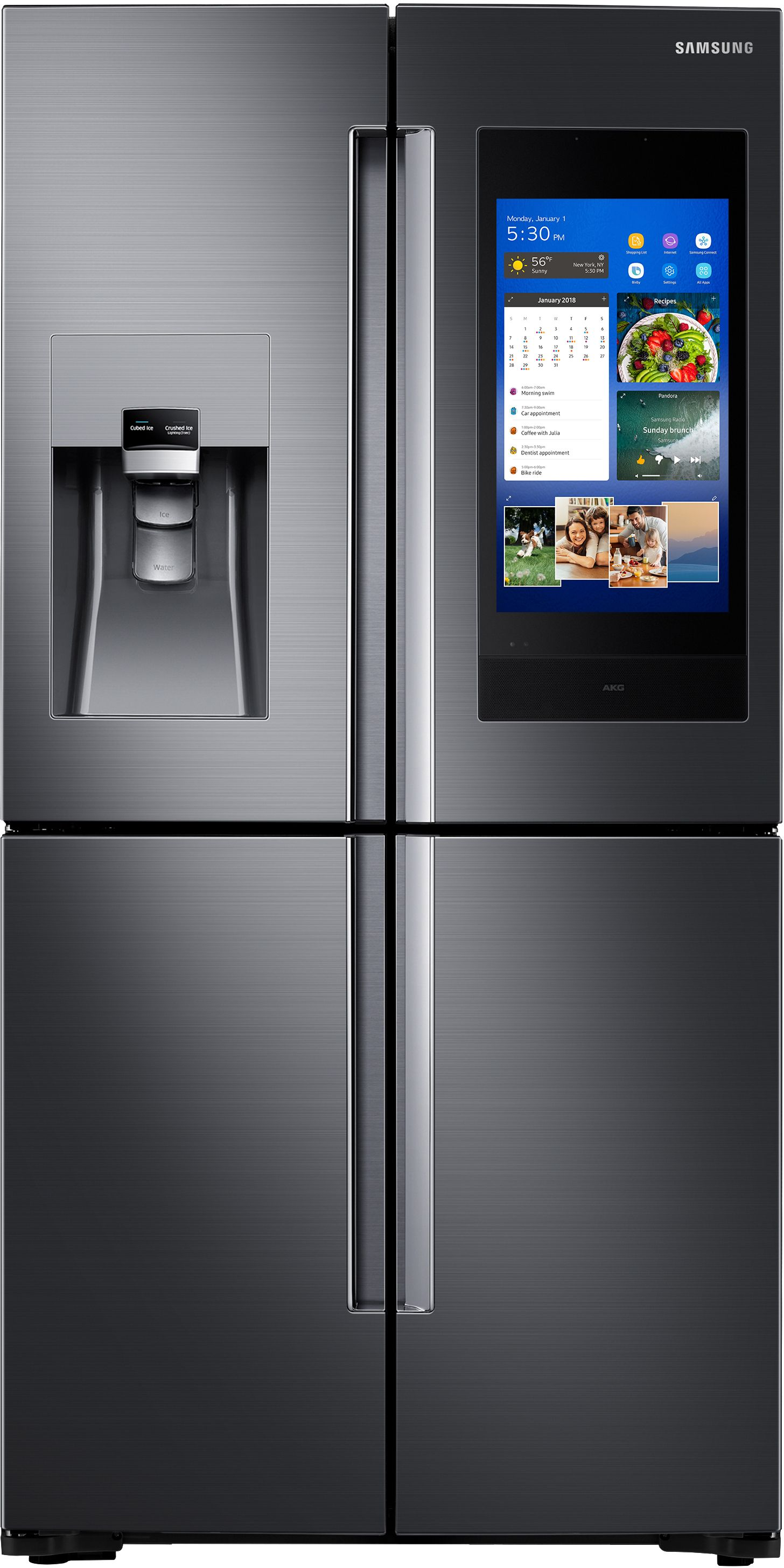Beau Ft. Capacity French Door Refrigerator Fingerprint Resistant Black Stainless  Steel ...