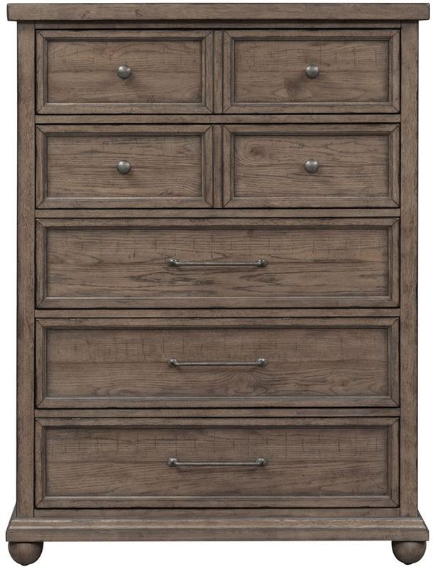 Liberty Furniture Harvest Home Barley Brown 5 Drawer Chest ...