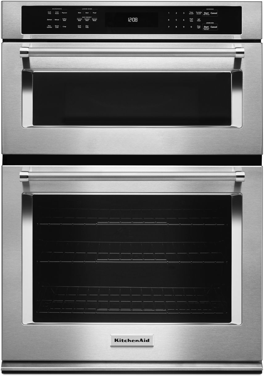 Kitchenaid 174 30 Quot Stainless Steel Electric Oven Microwave