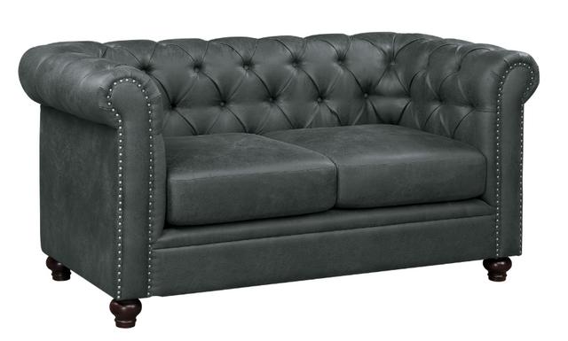 Strange Homelegance Wallstone Gray Loveseat 9517Gry 2 Furniture Ave Creativecarmelina Interior Chair Design Creativecarmelinacom