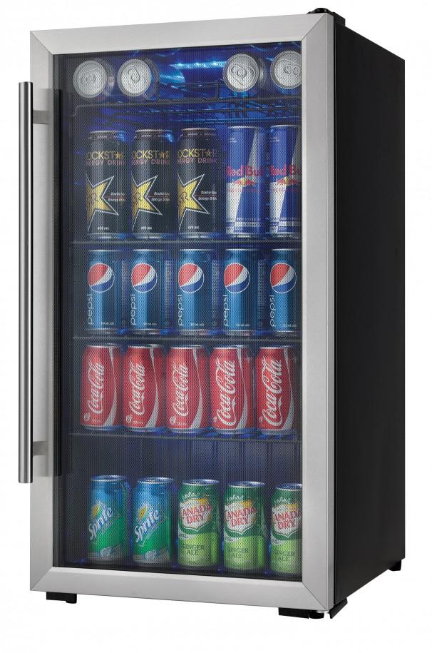 Danby® Designer 3.3 Cu. Ft. Beverage Center Black With Stainless  Steel DBC93BLSDD