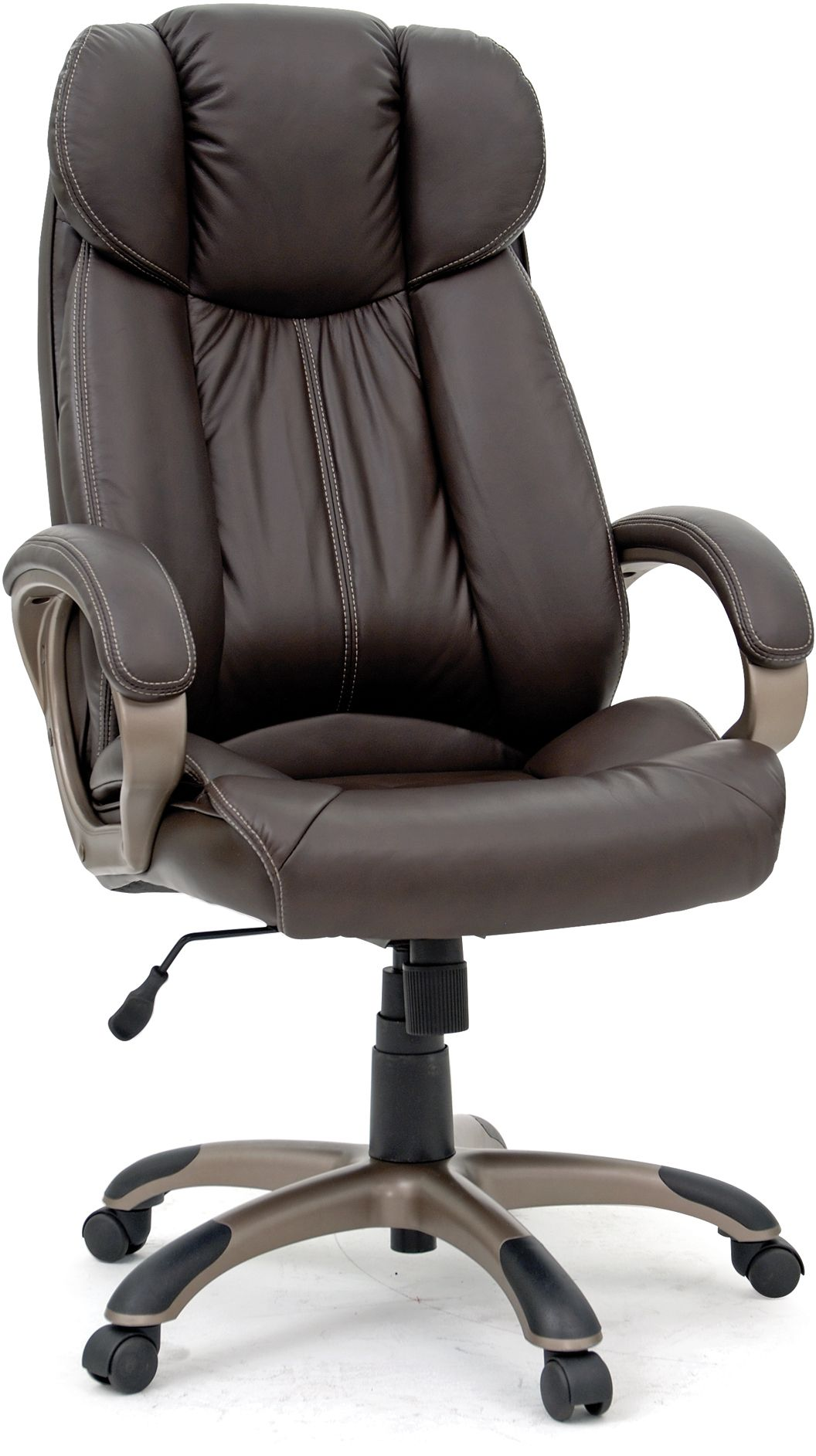 Sauder 174 Gruda Brown Executive Leather Chair 411903