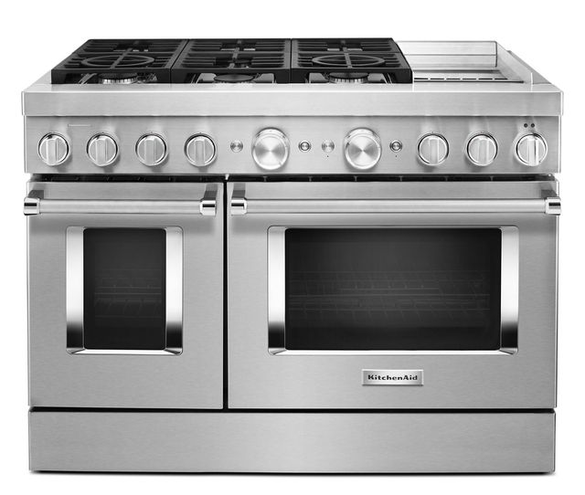 Kitchenaid 174 48 Quot Commercial Style Freestanding Dual Fuel