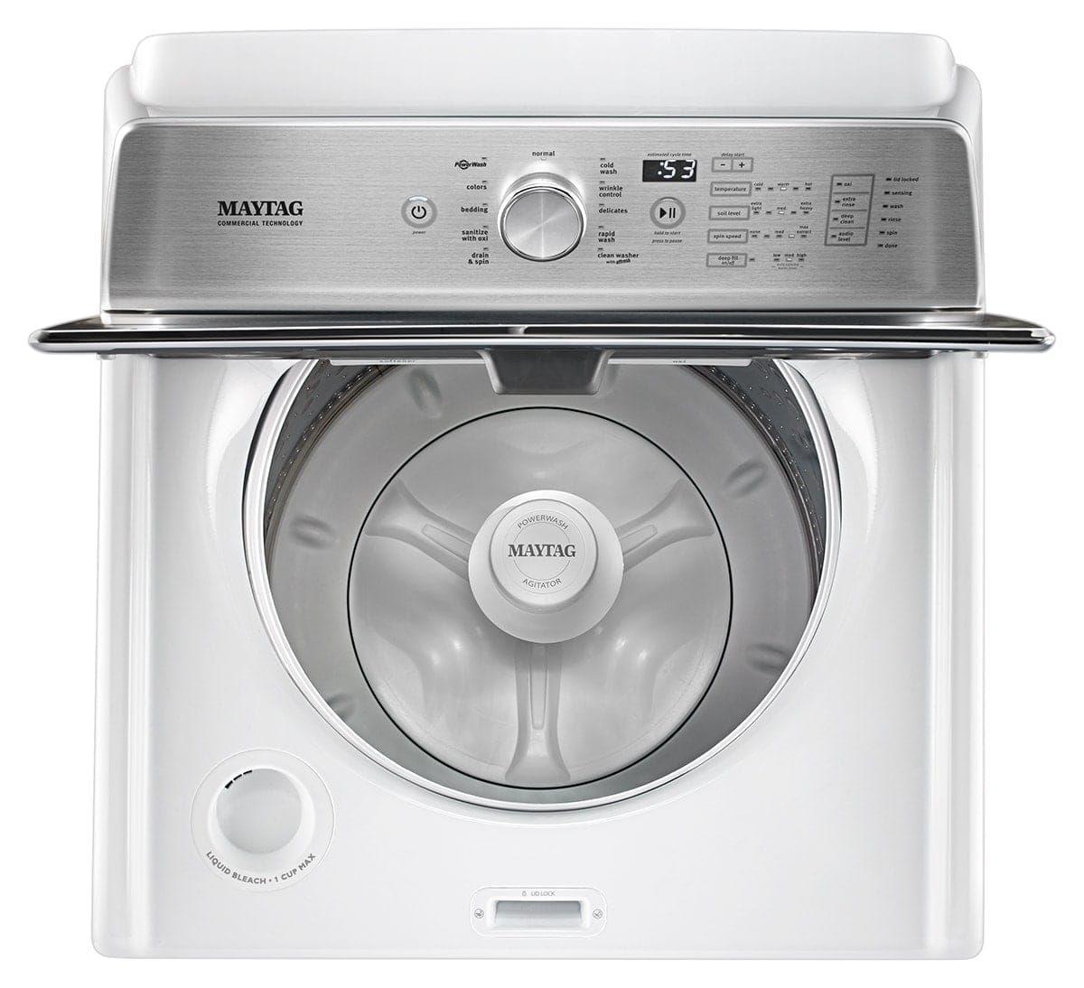 Maytag® 4 7 Cu  Ft  White Top Load Washer-MVWB766FW | Luecke Audio