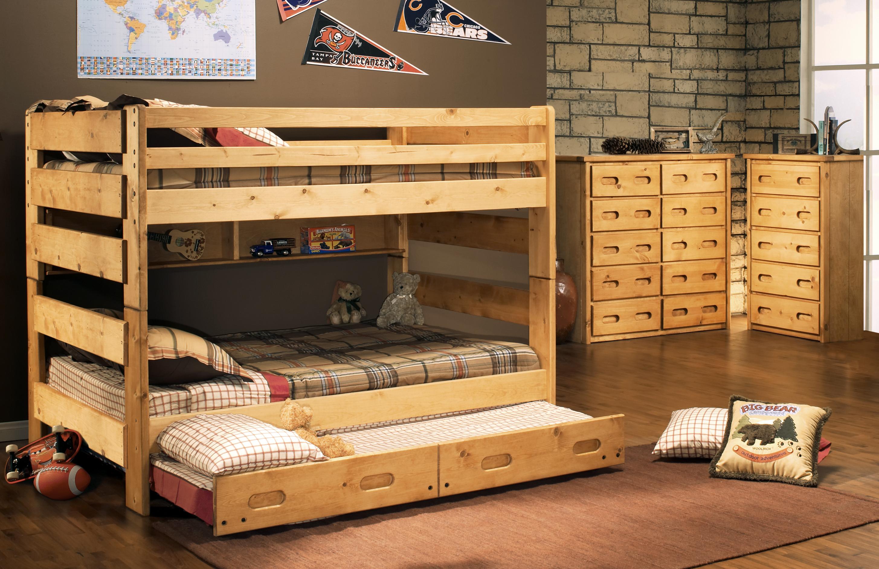 Trendwood Bunkhouse Big Sky Youth Bunk Bed Frame Full Full 4144