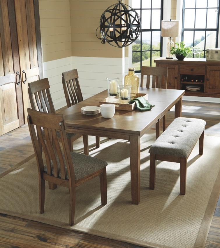 Signature Design By Ashley Flaybern 5 Piece Brown Dining Room Table Set D595