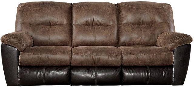 Signature Design By Ashley 174 Follett Coffee Reclining Sofa