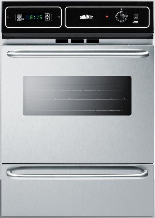 Summit 174 24 Quot Stainless Steel Built In Electric Single Wall